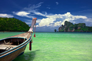 Boat in the tropical sea